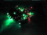 Гирлянда  ЛИЗА  400 LED5mm  на черном проводе, разноцветная, фото 4