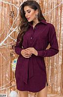 Платье женское демисезонное вельвет 42-44,46-48 размеров,цвет марсала