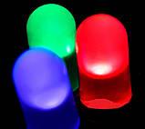 Гирлянда  МАТОВАЯ 500 LED 5mm на черном проводе, разноцветная, фото 3