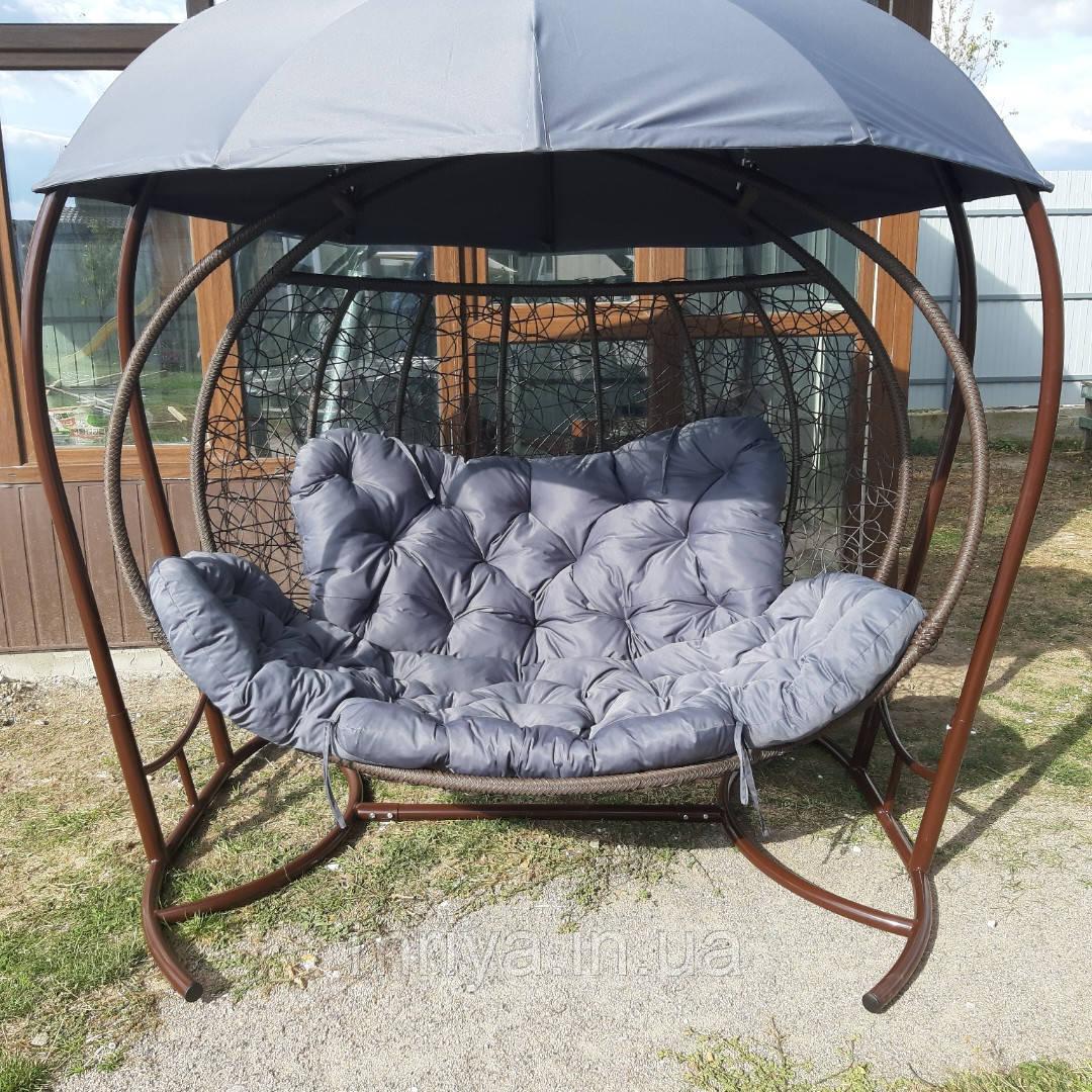 Крісло кокон з дашком підвісне