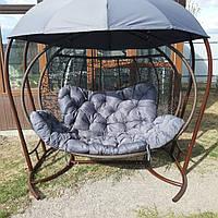 Крісло кокон з дашком підвісне, фото 1