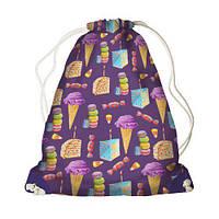 Детский рюкзак-мешок для игрушек,обуви Сладости
