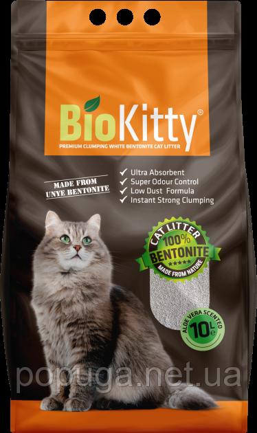 Наполнитель туалетов для кошек BioKitty Super Premium White АЛОЕ ВЕРА, (5 л)
