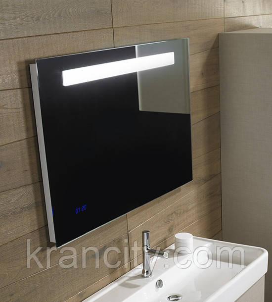 Зеркало для ванной комнаты JACOB DELAFON FORMILIA EB1160-NF (EB1041-NF) 80см. С часами, анти-пар
