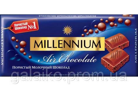 Шоколад Milllennium молочный пористый 90гр.