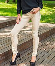 Однотонные женские узкие брюки-лосины (Кожаные sk), фото 2