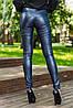 Однотонные женские узкие брюки-лосины (Кожаные sk), фото 6
