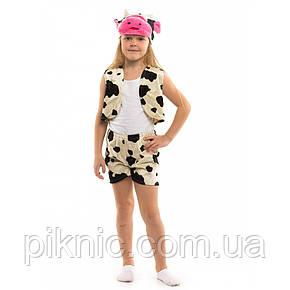 Костюм Коровка для детей 3,4,5,6 лет. Детский новогодний карнавальный костюм Буренка, фото 2