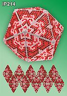 Набор алмазной вышивки  ТМ Вдохновение НОВОГОДНИЙ ШАР IP214 ГРАФИКА ЦВЕТОК