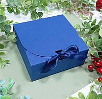 Коробка картонная маленькая 115х115х50 мм синяя