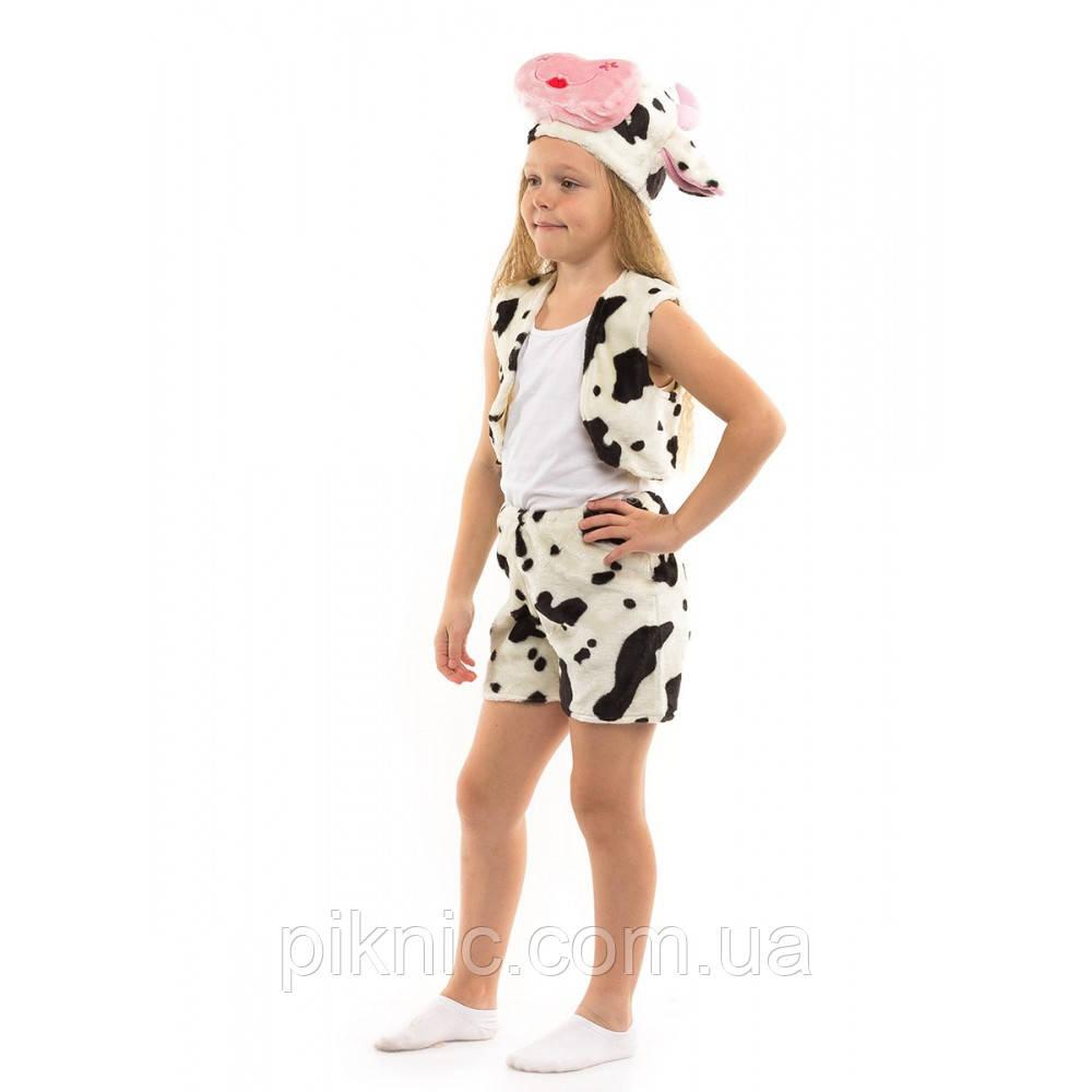 Костюм Коровка для детей 3,4,5,6 лет. Детский новогодний карнавальный костюм Буренка 342
