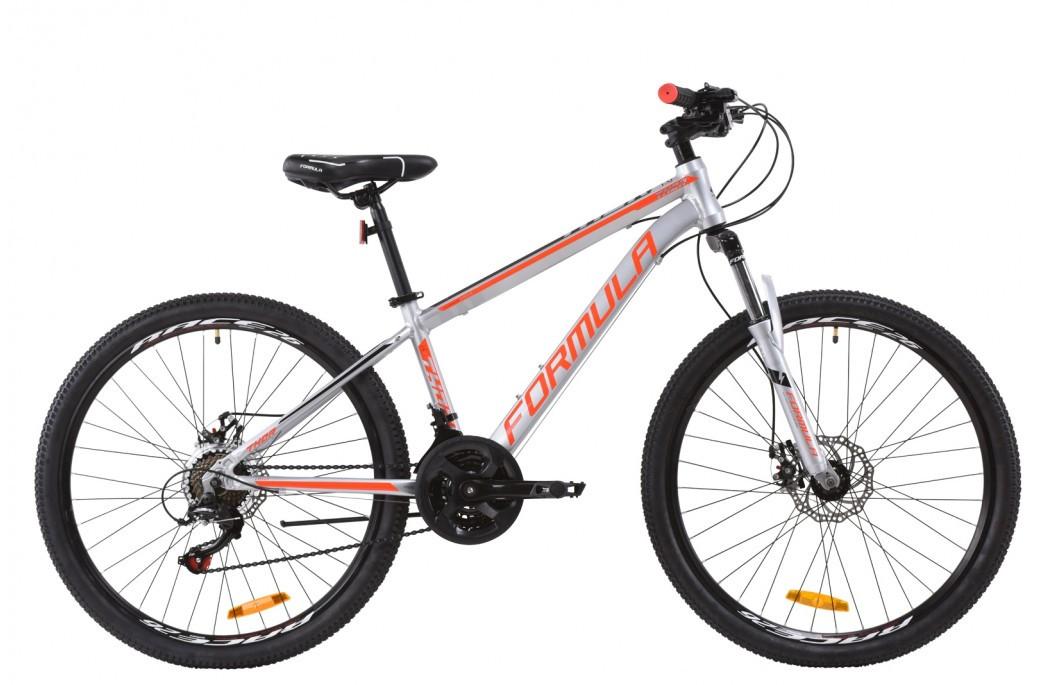 """Велосипед горный 26"""" Formula Thor 1.0 2020 алюминиевая рама серебристо-черный с красным, 18"""""""