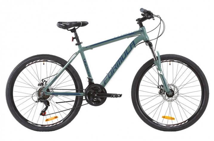 """Велосипед горный 26"""" Formula Thor 1.0 2020 алюминиевая рама нефритово-синий с белым, 18"""", фото 2"""