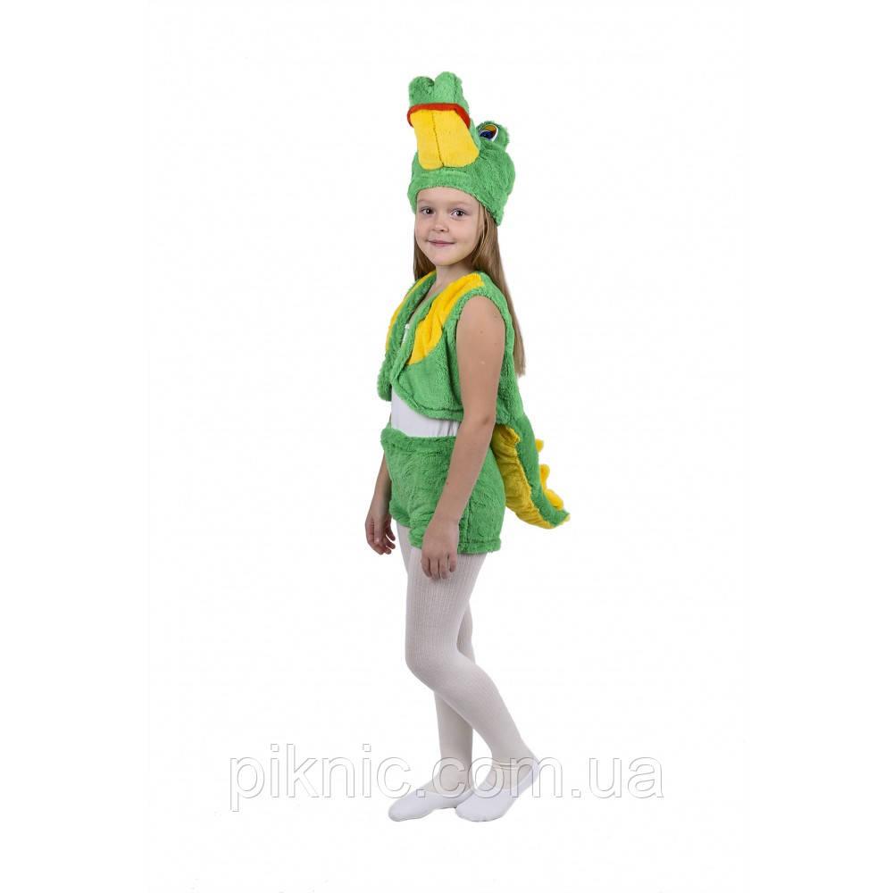Костюм Крокодила для детей 3,4,5,6 лет. Детский новогодний карнавальный костюм Крокодильчик 342