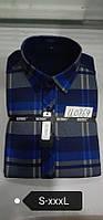 Теплая рубашка на флисе Bendu slim - 869