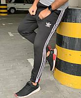 Утеплённые штаны Adidas 20565 черные, фото 1