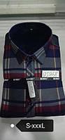 Теплая рубашка на флисе Bendu slim - 868