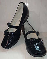 Туфли черные лаковые р.32,34,37