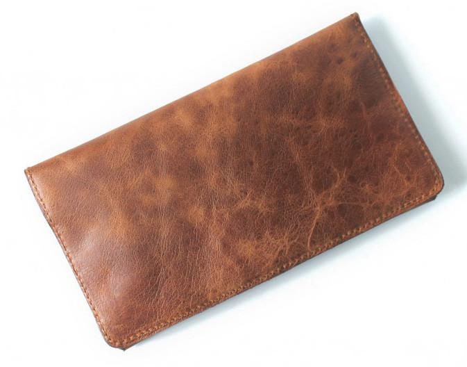 Мужской кошелек из натуральной кожи Cavallo Pazzo 20630 коричневый