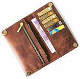 Мужской кошелек из натуральной кожи Cavallo Pazzo 20630 коричневый, фото 2