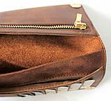 Мужской кошелек из натуральной кожи Cavallo Pazzo 20630 коричневый, фото 4