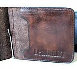 Кожаный зажим мужской Abbaiare 20648 коричневый, фото 2