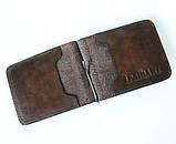 Кожаный зажим мужской Abbaiare 20648 коричневый, фото 3