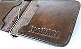 Кожаный зажим мужской Abbaiare 20648 коричневый, фото 4