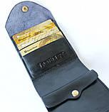 Мужской кошелек из натуральной кожи Denzel 20650 черный, фото 2