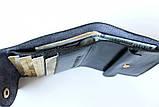 Мужской кошелек из натуральной кожи Denzel 20650 черный, фото 3