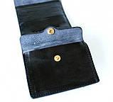 Мужской кошелек из натуральной кожи Denzel 20650 черный, фото 6