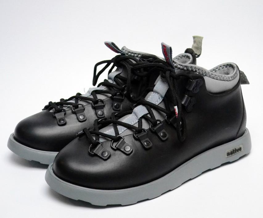 Зимние кроссовки Native Fitzsimmons 20557 серо-черные