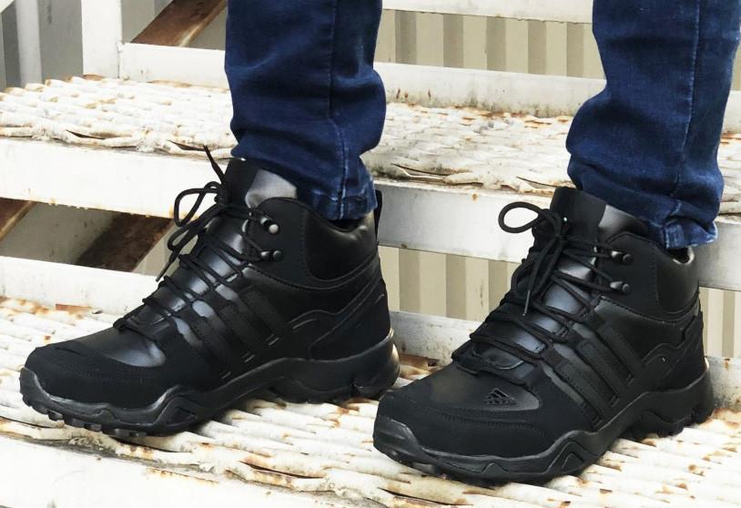 Зимние кроссовки Adidas 20661 черные