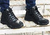 Зимние кроссовки Adidas 20661 черные, фото 4
