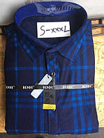 Теплая рубашка на флисе Bendu slim - 847