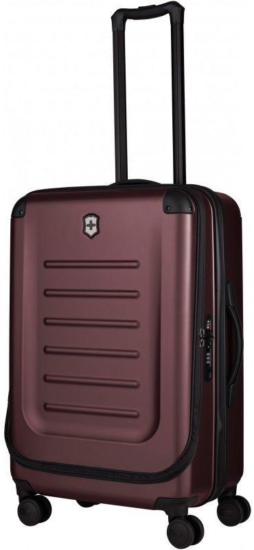 Пластиковый чемодан средний Victorinox Travel Spectra бордовый 62 л