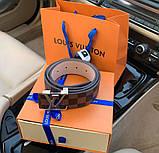 Ремінь Louis Vuitton 20617 коричневий, фото 2