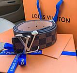 Ремінь Louis Vuitton 20617 коричневий, фото 3