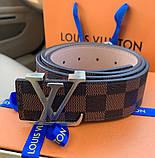Ремінь Louis Vuitton 20617 коричневий, фото 4
