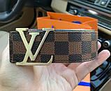 Ремінь Louis Vuitton 20617 коричневий, фото 7