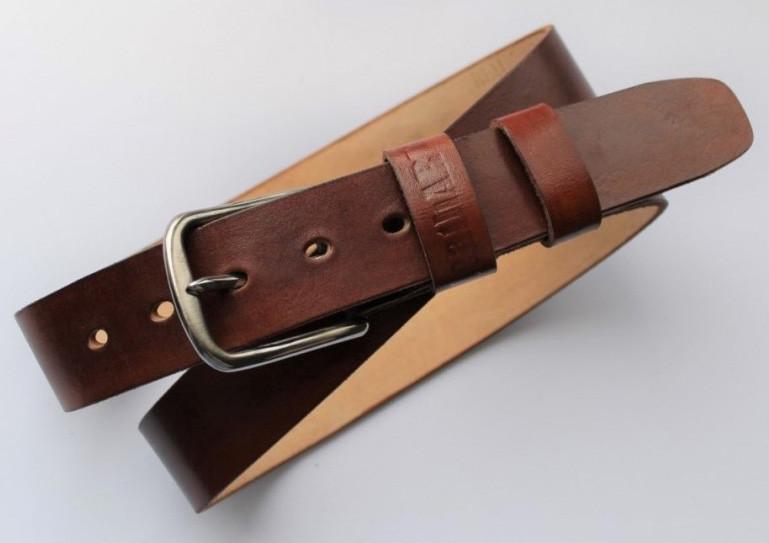 Мужской кожаный ремень Whisky 20625 коричневый