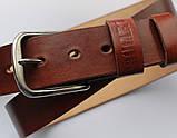 Мужской кожаный ремень Whisky 20625 коричневый, фото 2