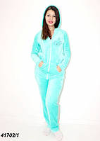 Теплая махровая пижама женская,бирюзовая  42 44 46 48