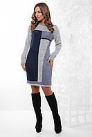 S-L / В'язане жіноче плаття Divalis, сірий