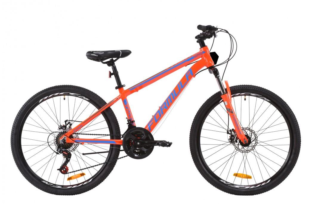 """Велосипед горный мужской 26"""" Formula Thor 2.0 2020 алюминиевая рама 14"""" 18"""" оранжево-синий с серым, 14"""""""