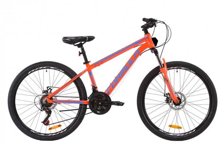 """Велосипед горный мужской 26"""" Formula Thor 2.0 2020 алюминиевая рама 14"""" 18"""" оранжево-синий с серым, 14"""", фото 2"""