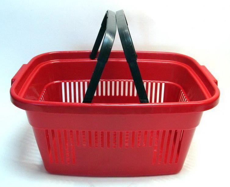 Корзинки покупательские пластиковые Корзинки для магазина, супермаркета