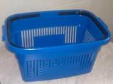 Корзинки покупательские пластиковые Корзинки для магазина, супермаркета, фото 6