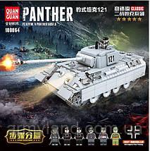 Танк Пантера, военный конструктор, аналог Лего, фото 2