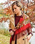 Незнакомка 779-3, павлопосадский платок шерстяной  с шелковой бахромой, фото 4